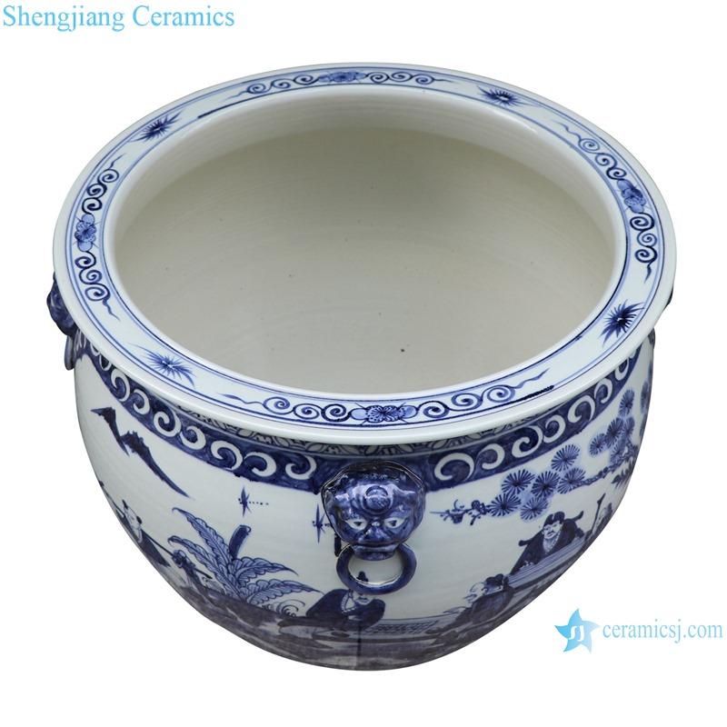 RZSD05-C Jingdezhen handmade blue and white ceramic pot different designs