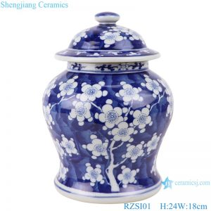RZSI01 Jingdezhen handmade blue and white design flower ceramic ginger jars