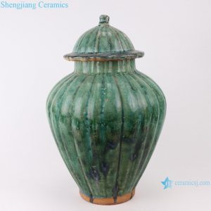 RZSP02 jingdezhen hand made green glazed african luxury home decor ceramic jar