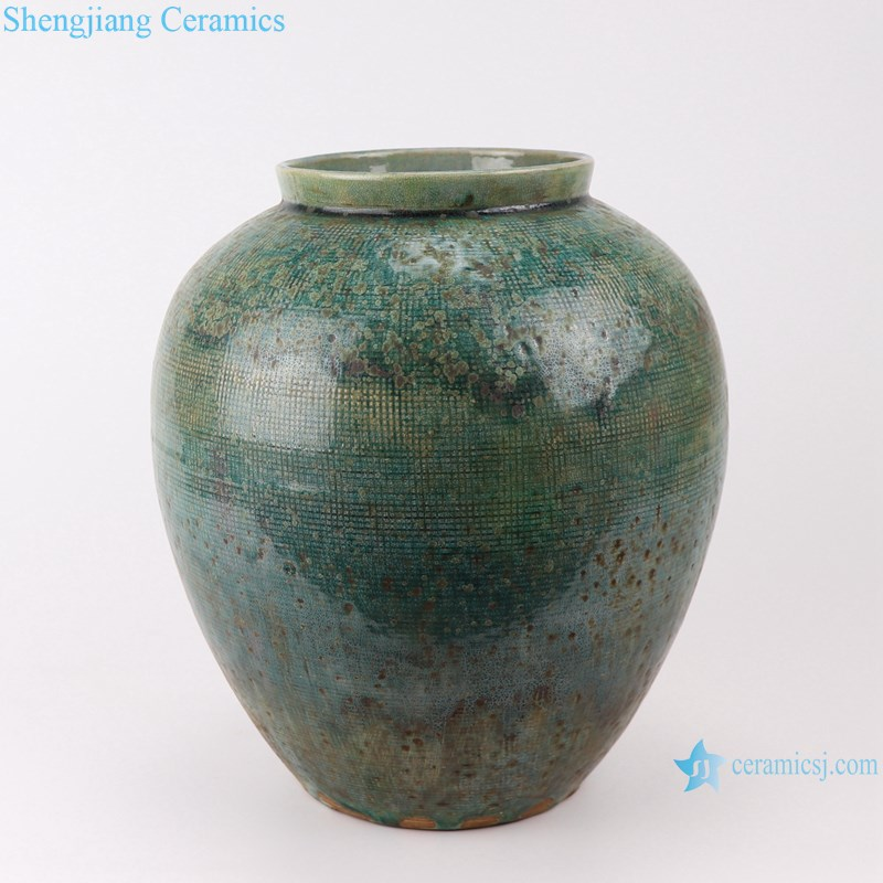 RZSP05 jingdezhen ceramics green color for decoration pot porcelain jar