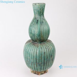 RZSP07 jingdezhen green glazed ceramics for living room decoration antique porcelain vase