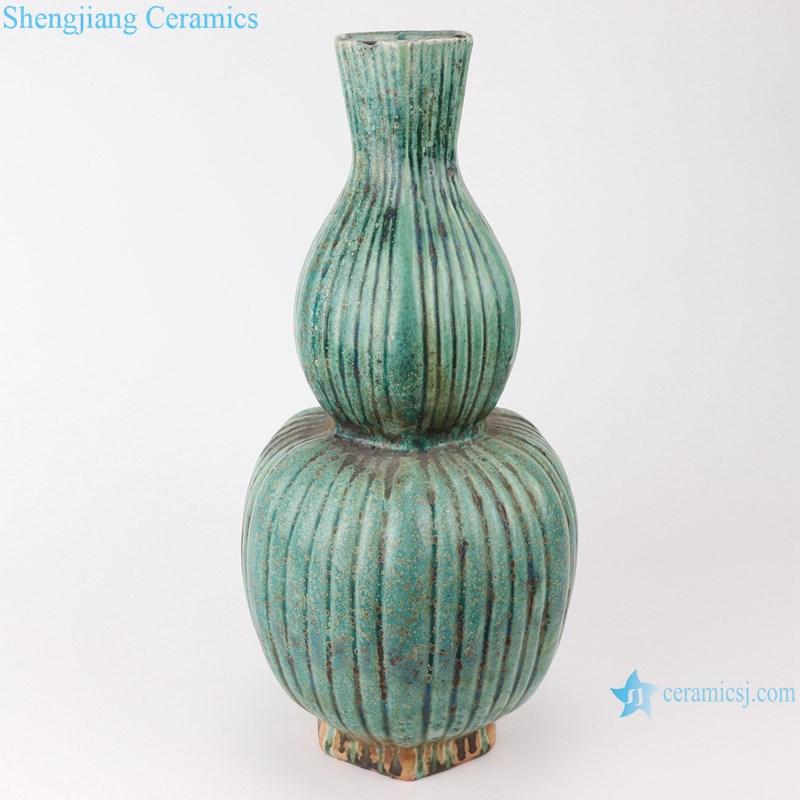 RZSP07 jingdezhen green glazed ceramics for living room decoration antique porcelain vase