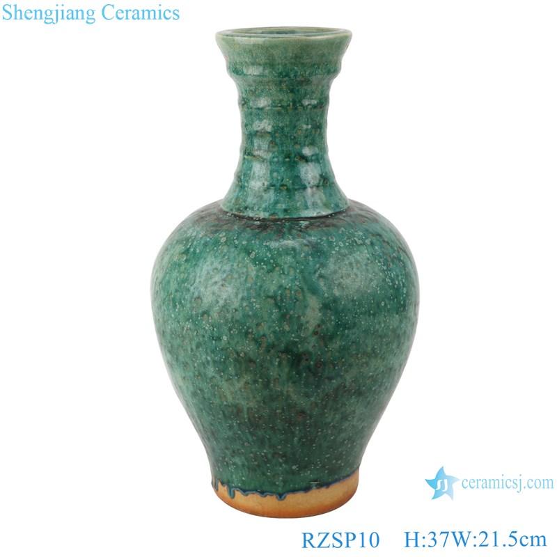 RZSP10 jingdezhen green glazed ceramics for living room decoration antique porcelain vase