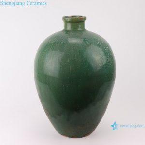 RZSP011 Southeast Asia green glazed ceramic flower home living room table decoration creative decoration dry flower vase