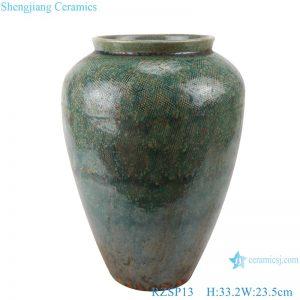 RZSP013 Jingdezhen porcelain American ceramic small vase living room flower arrangement, green pottery pot