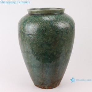 RZSP013 Jingdezhen porcelain American ceramic small vase living room flower arrangement, green pottery pot