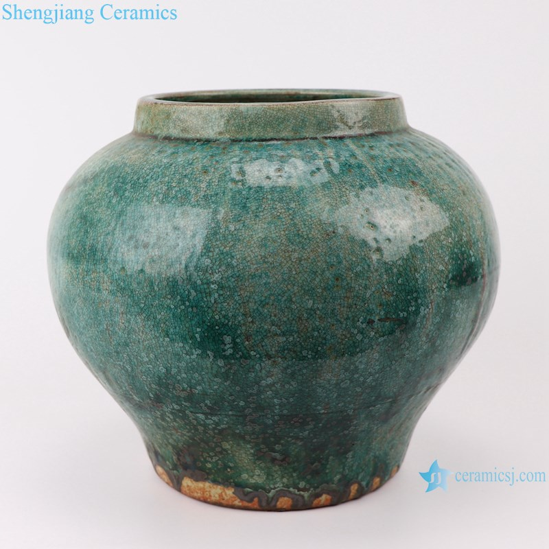 RZSP015 Vintage Bronze Bubble Glaze Jingdezhen Ceramic Vase Living Room Hotel Flower Decoration Rough Ceramic Jars