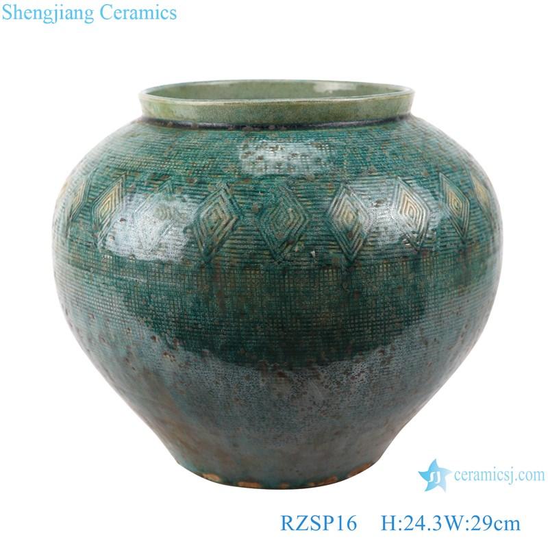 RZSP016 Jingdezhen modern creative handmade vase home TV counter decoration vase new Chinese pottery vase