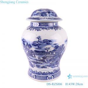 DS-RZSI06 Blue and white landscape jar ceramic table lamp