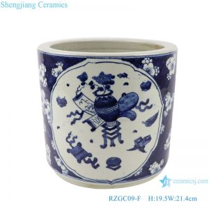RZGC09-F Blue and white ice plum design antique design ceramic pen holder