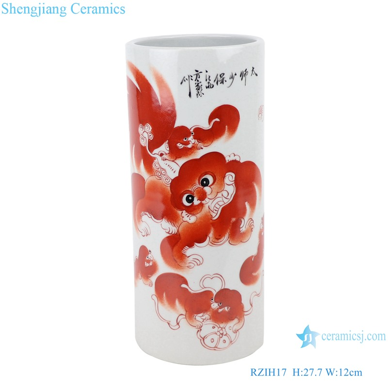 RZIH17 Alum red lion high pen holder