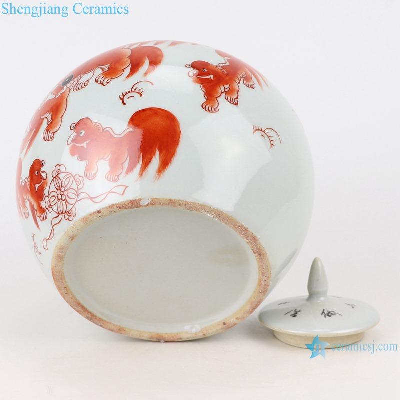 RZIH19 ovoid alum red ceramic jar