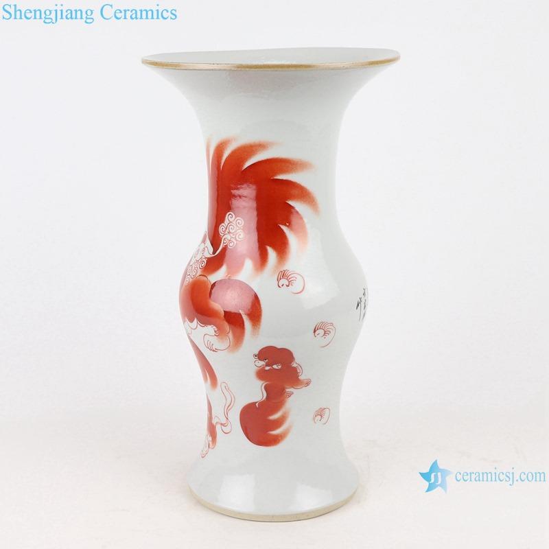RZIH21 lion pattern chinese antique vase