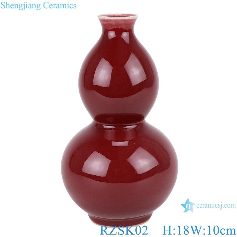 RZSK02 red glaze gourd vase