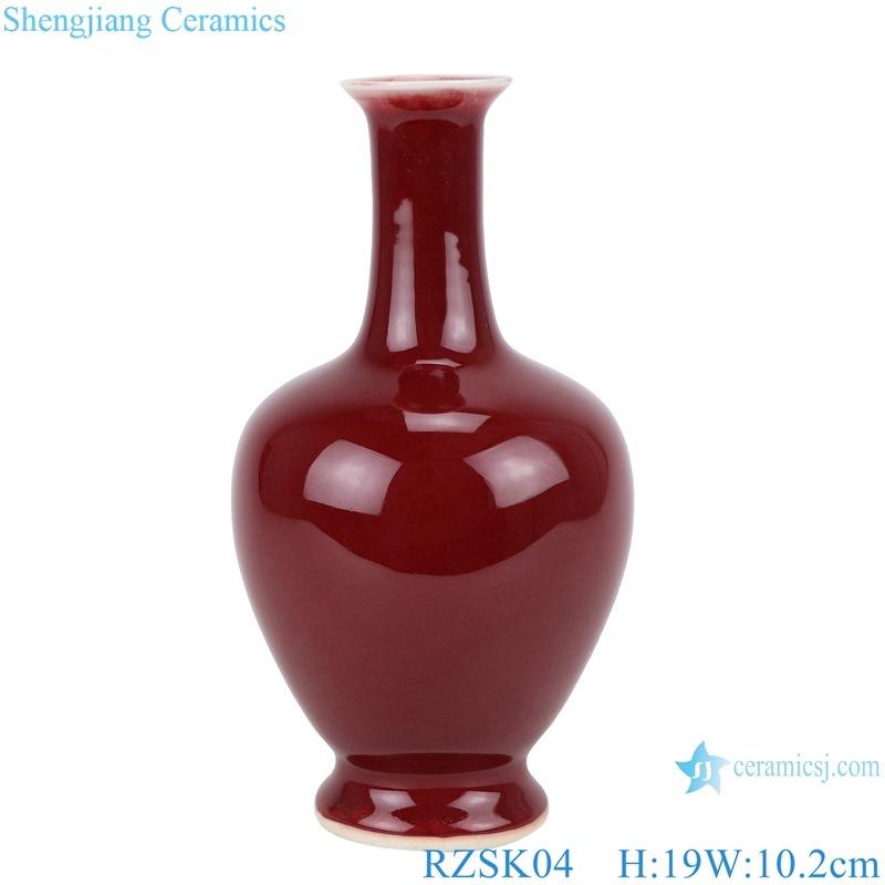 RZSK04 red glaze Small long neck vase