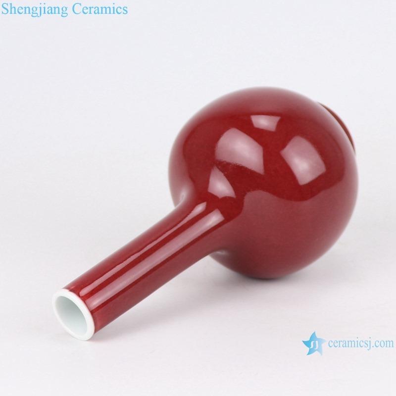 RZSK05 red glaze globular vase