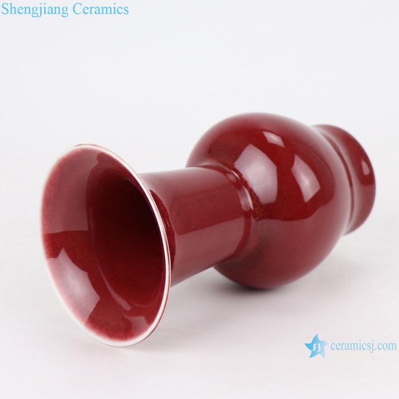 RZSK06 red glaze flower Mushroom vase