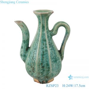 RZSP23 Qing Guangxu hand-made ceramic old wine pot, teapot, antique porcelain and ornaments collection