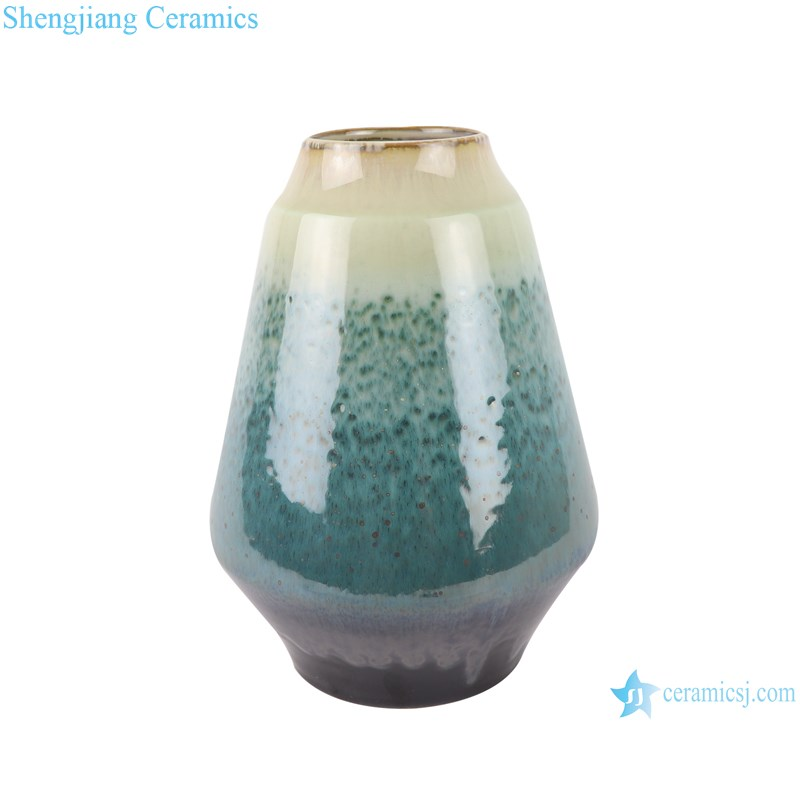 RZST02 Color glaze kiln glaze green glaze set of three large ceramic vases-medium