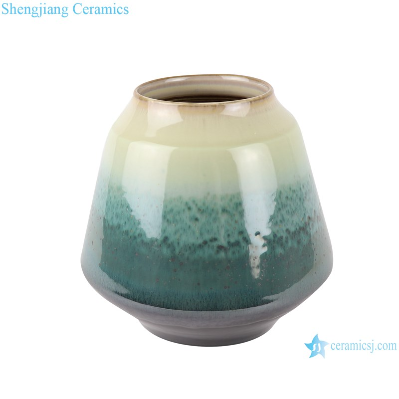 RZST02 Color glaze kiln glaze green glaze set of three large ceramic vases-small-main figure