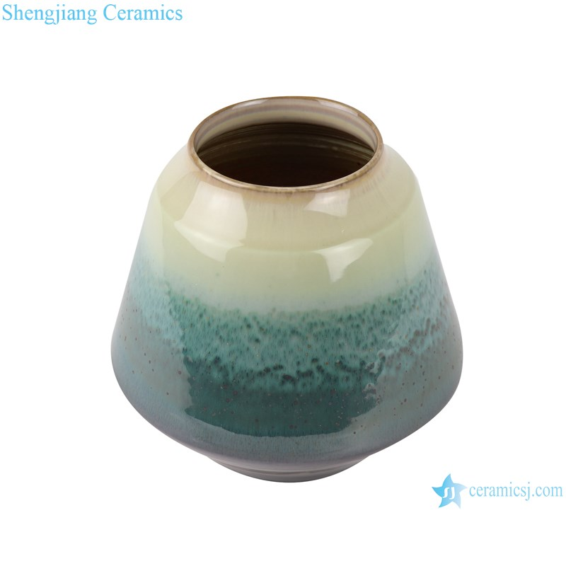 RZST02 Color glaze kiln glaze green glaze set of three large ceramic vases-small-profile