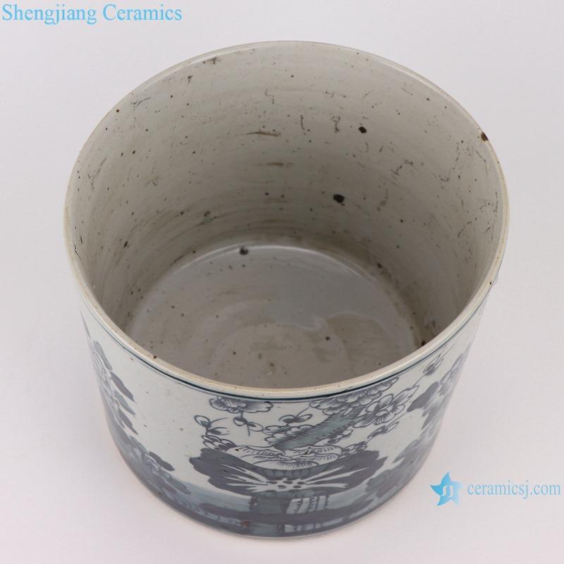 RYKB157-C Antique blue and white flower design multi-pattern ceramic pen holder