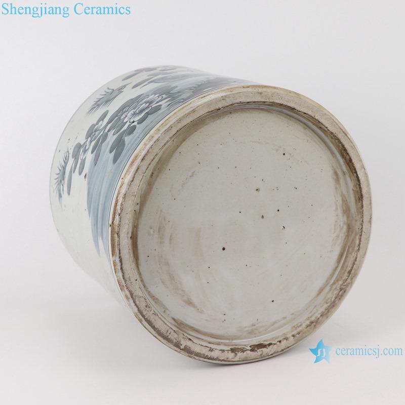 RYKB157-E Antique blue and white flower bird design multi-pattern ceramic pen holder