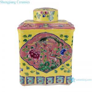 RZFA06-C_ Jingdezhen porcelain vase hand-painted engraving antique pastel general ceramic jar decoration