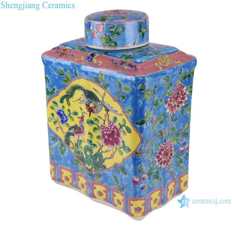 RZFA15-C_ Enamel-color tea pot small boutique household ceramic sealed pot custom tea pot