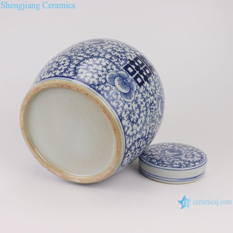 RZSI03 Blue and white happy character design big storage pot