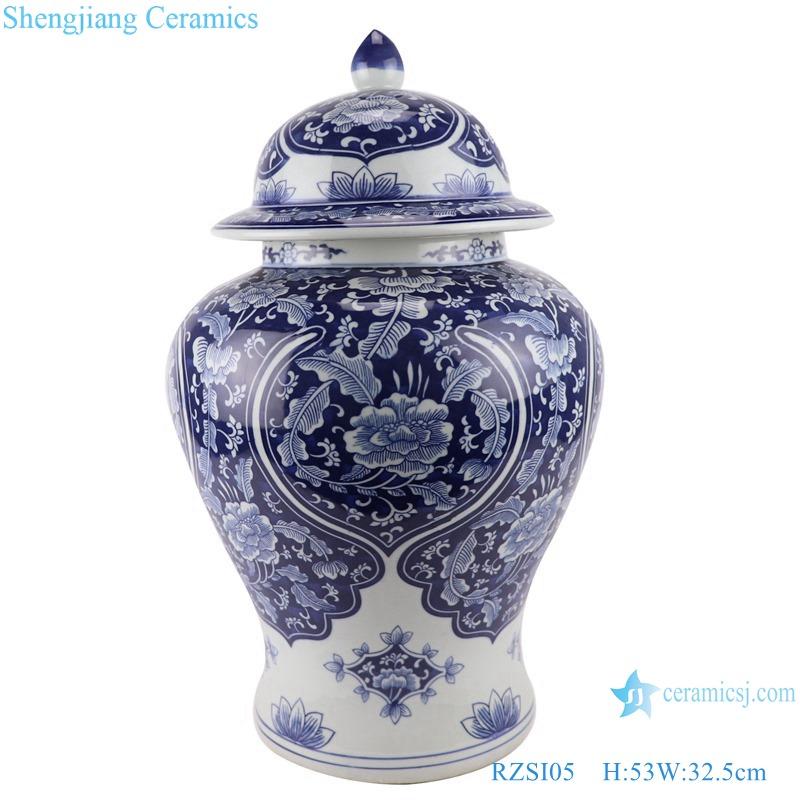 RZSI05_Qing Dynasty people kiln pure handmade blue and white ceramic storage jar