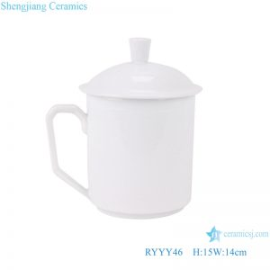 RYYY46 pure white office ceramic water cups