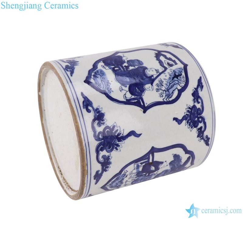 RZKT03-i Blue and white figure children's design ceramic pen holder