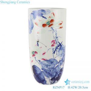 RZNP17 Color carved lotus umbrella stand ceramic vase