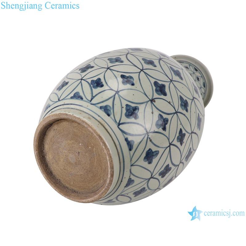 RZSX04-B Blue and white copper design vase with stick pattern