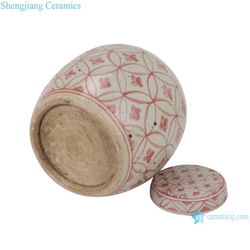 RZSX07-B Alum copper money grain tea jar ceramic storage jar