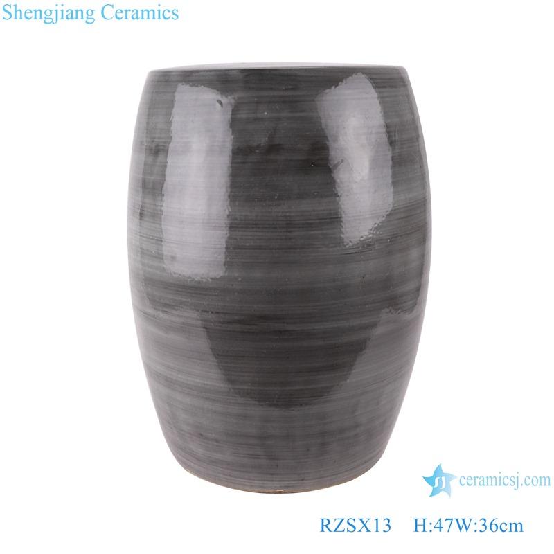 RZSX13 Color glaze kiln black coil grain drum stool cool pier