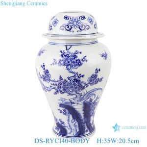 DS-RYCI40-BODY Blue and white general jar shape lamps and lanterns