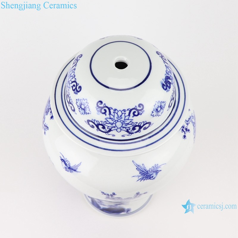 Blue and white general jar shape lamps and lanterns