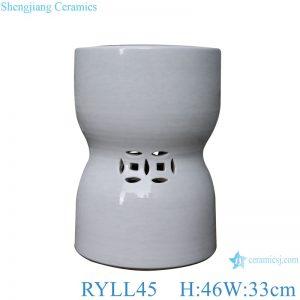 RYLL45 White copper money hole design shaped stool