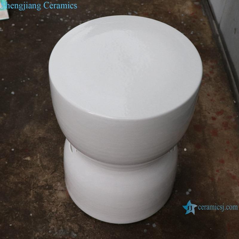 White copper money hole design shaped stool