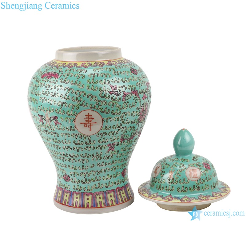Pastel green background perpetual word general pot