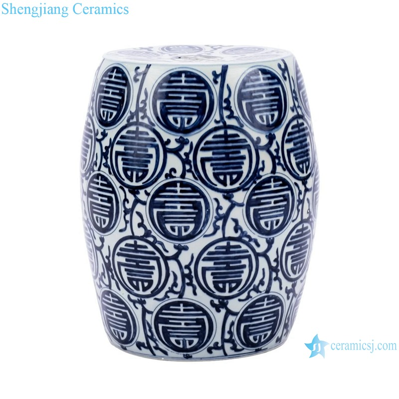 Blue and white word design stool cool pier home use