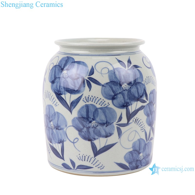 RZLZ04 Modern Home kitchen storage pot blue and white Small Jars candy snack pot