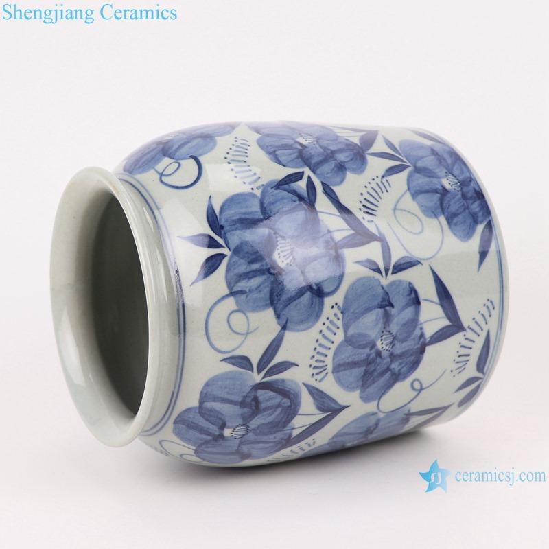 RZLZ04 Modern Home kitchen storage pot blue and white flower pattern ceramic Small Jars candy snack pot