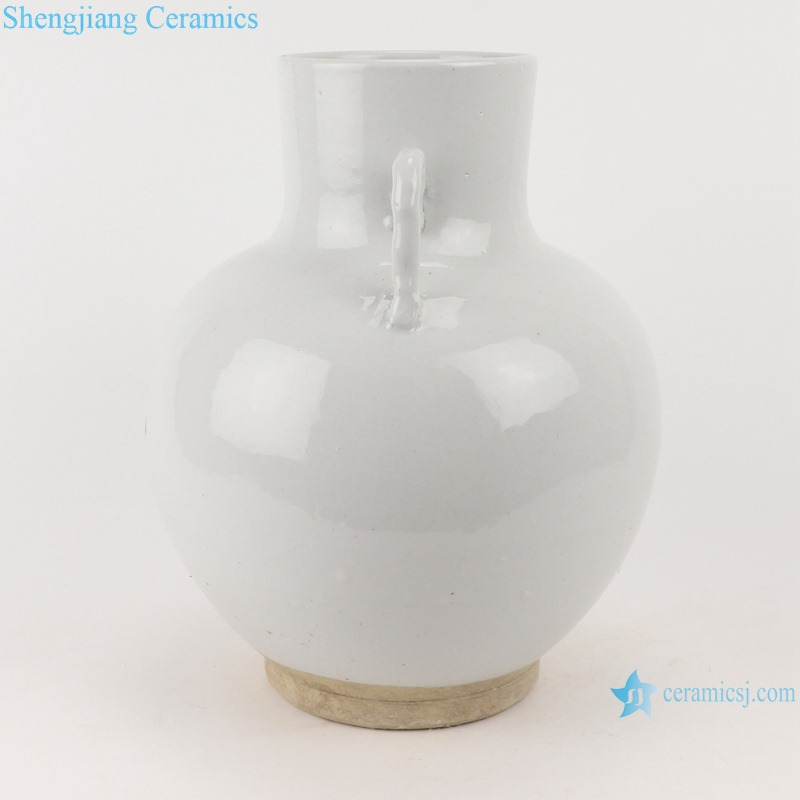 White amphora bucket porcelain vase jar decoration