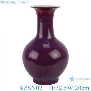 RZSN02 Lang red glaze kiln glaze blue vase for decoration