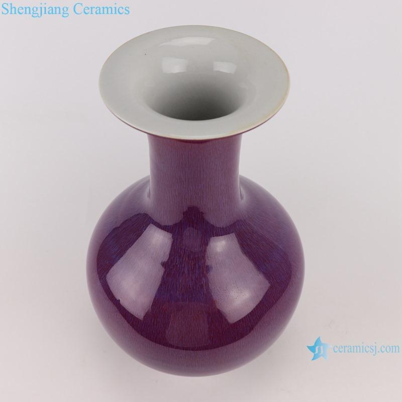 Lang red glaze kiln glaze blue vase for decoration