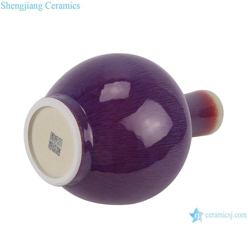 Lang red glaze kiln variable glaze blue celestial ball shape vase