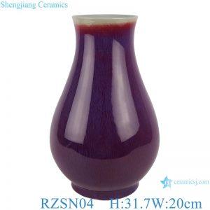 RZSN04 Lang red glazed kiln glaze blue fu bucket vase